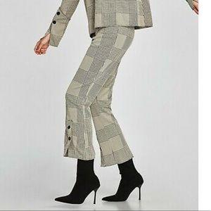 Zara Houndstooth Pants 🌹